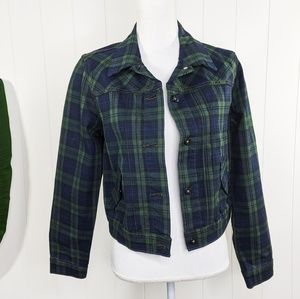 Levi's Tartan Plaid Denim Jacket